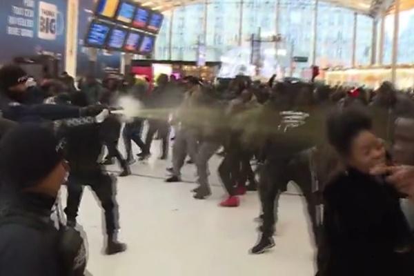 فیلم   اسپری فلفل، پاسخ پلیس فرانسه به معترضان به نژادپرستی