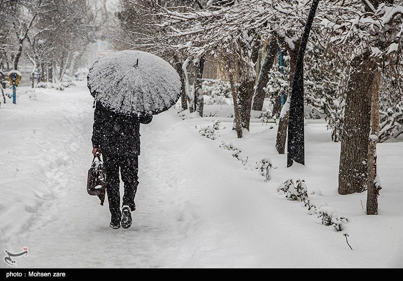 تصاویر برفی مشهد امروز