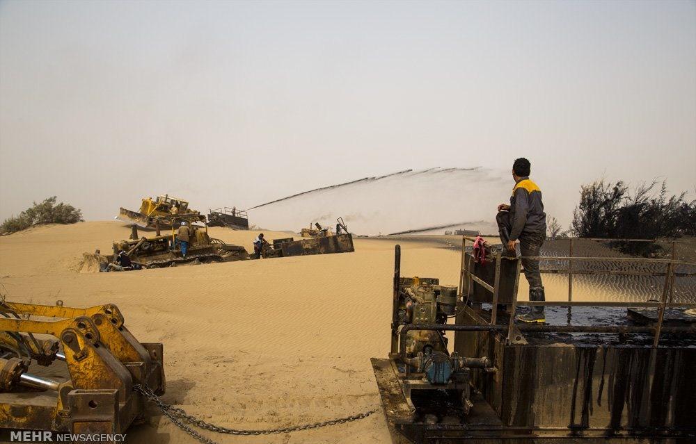 تصاویر   آغاز عملیات تثبیت ۱۰هزار هکتار از شنزارهای خوزستان
