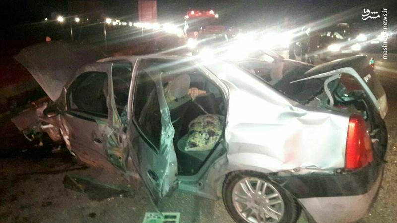 عکس | واژگونی مرگبار ال۹۰ در جاده اشتهارد-ماهدشت