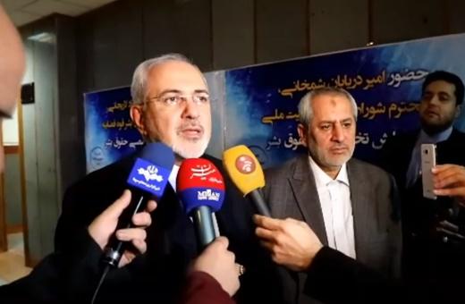 فیلم | واکنش ظریف به ادعای ایرانی بودن موشکهای یمنی