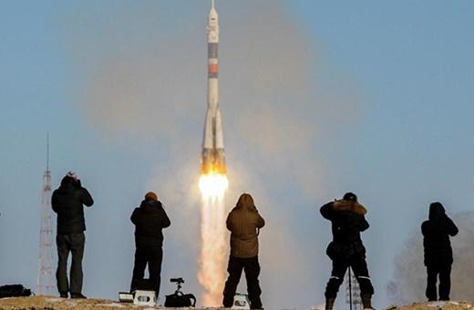 فیلم | پرواز سایوز به ایستگاه بینالمللی با ۳ فضانورد