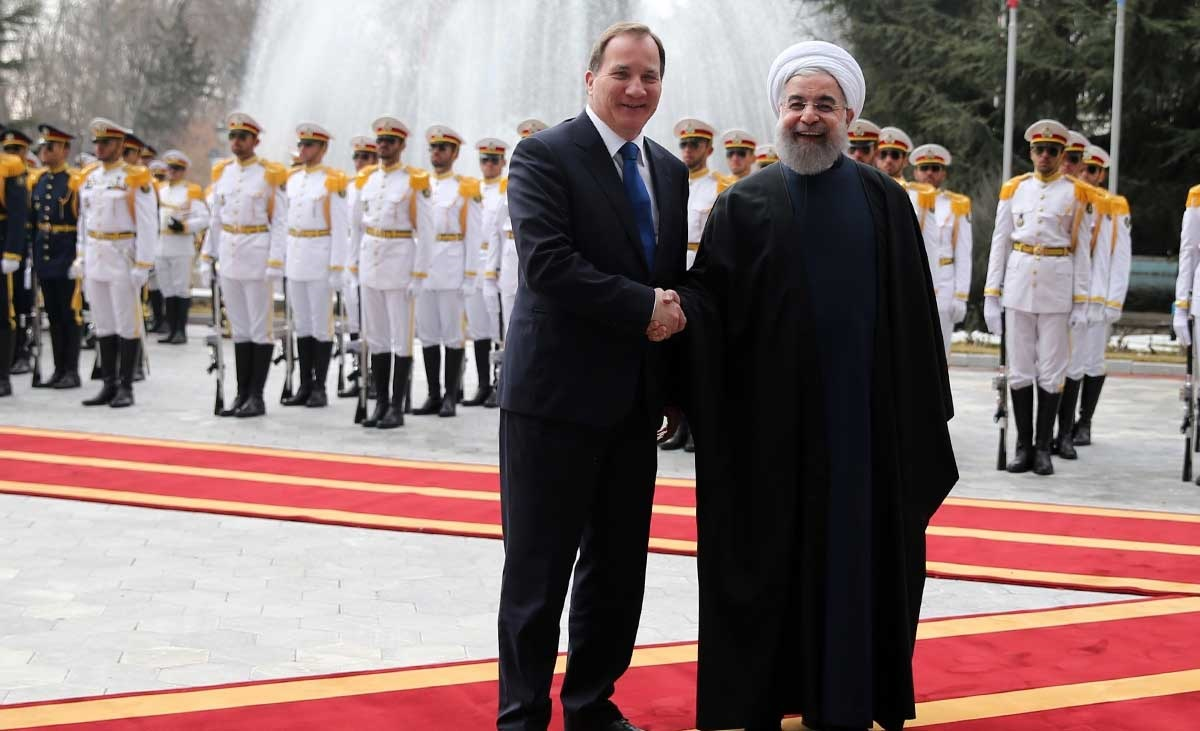 تصاویر | استقبال رسمی روحانی از نخست وزیر سوئد