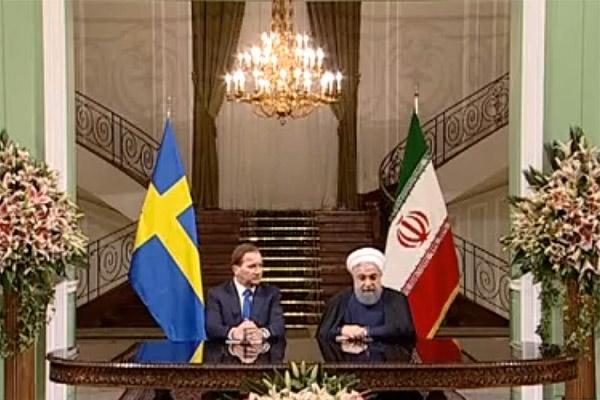 فیلم | اظهارات روحانی پس از امضای توافقات جدید ایران و سوئد
