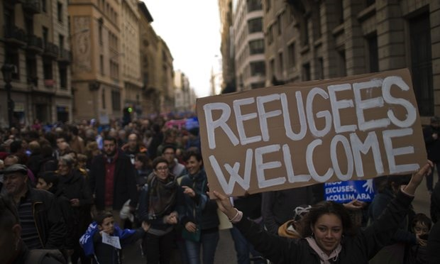 تصاویر   تظاهرات هزاران اسپانیایی در حمایت از جذب بیشتر پناهجو