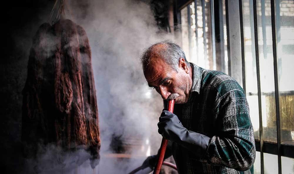 تصاویر | کارگاه رنگرزی سنتی در زنجان