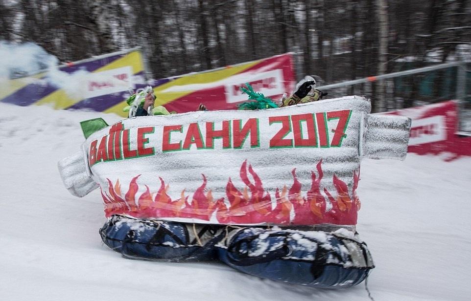 تصاویر   رقابت روسها با سورتمههای عجیب و غریب