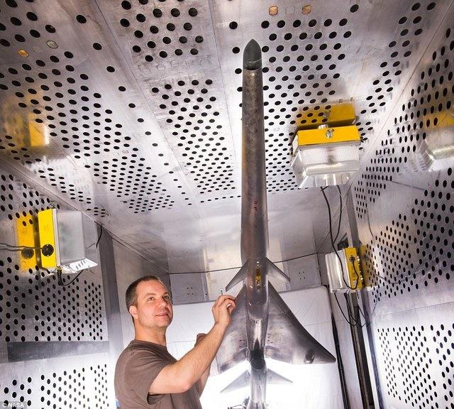 تست تونل باد روی هواپیمای مسافربری مافوق صوت ناسا