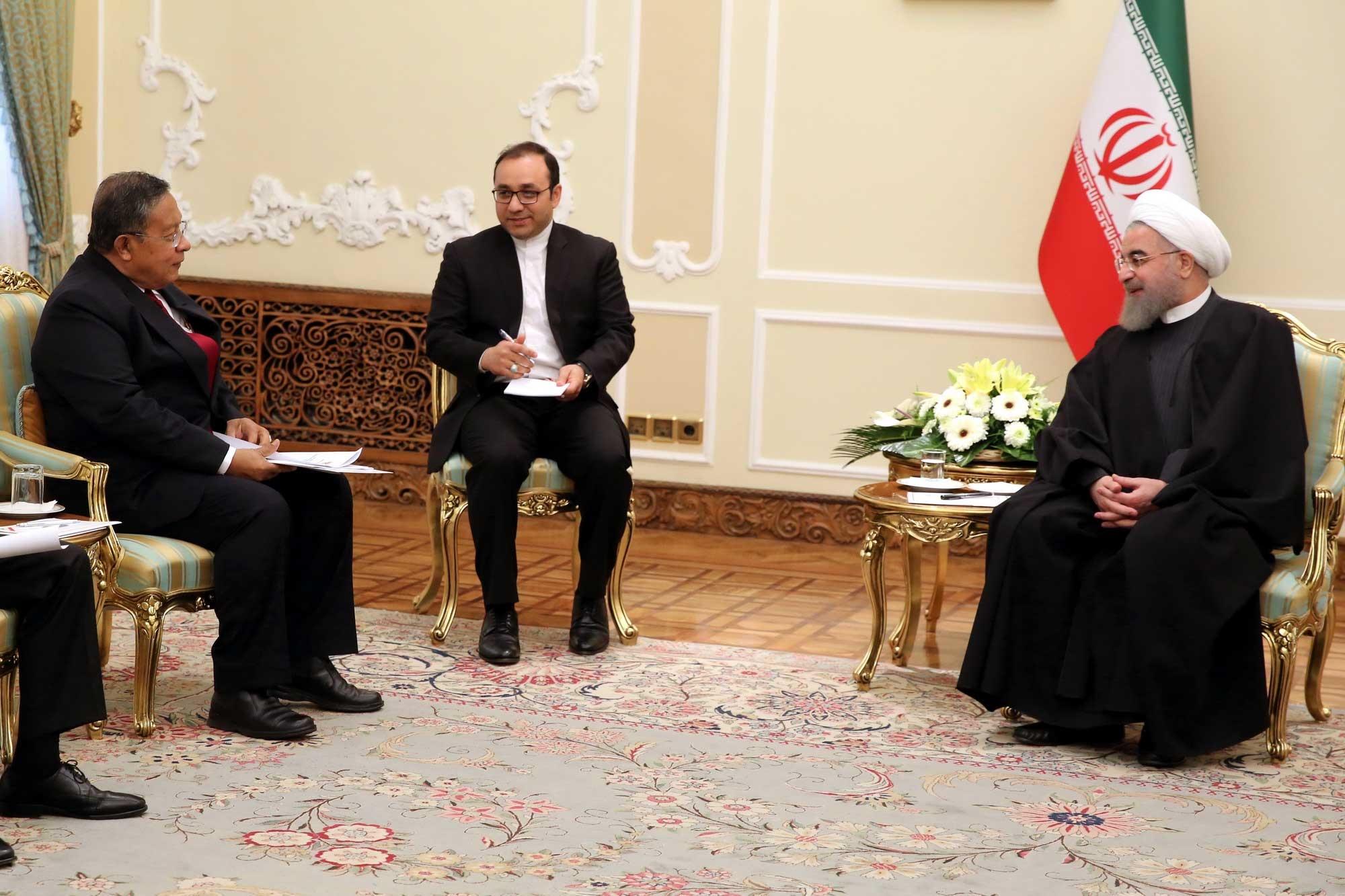 تصاویر | دیدار حسن روحانی با فرستاده ویژه رییسجمهور اندونزی