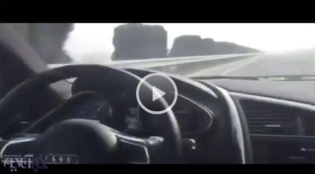 فیلم   آئودی گرانقیمت با جنون رانندهاش نصف شد