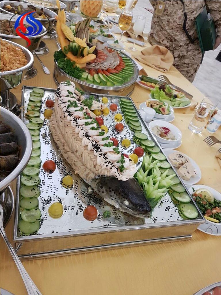 تصاویر |  ضیافت شام مجلل پادشاه عربستان