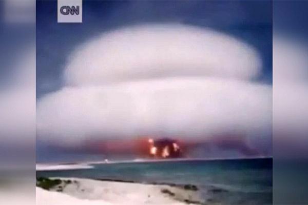 فیلم | تصاویری منتشر شده از آزمایشهای اتمی سری آمریکا