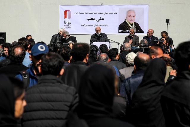 مراسم یادبود علی معلم باحضور سینماگران برگزار شد/ فرهادی: هیچگاه چیزی جز میل به زندگی در علی ندیدم