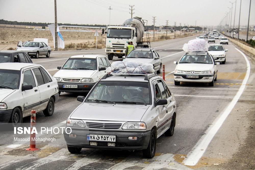 تصاویر   ترافیک سنگین جادهها در آغاز دور اول سفرهای نوروزی