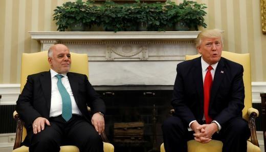دیدار ترامپ و حیدرالعبادی در کاخ سفید
