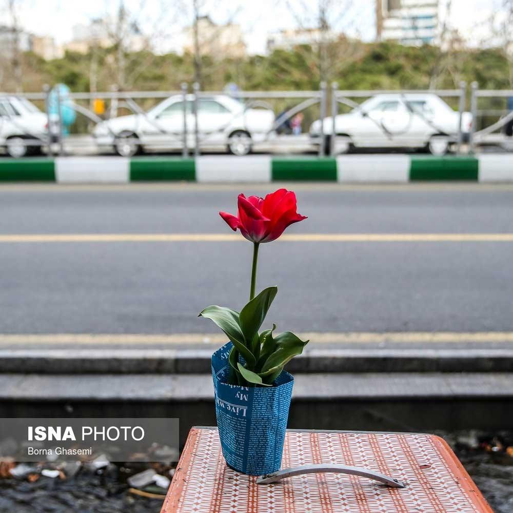 تصاویر   اینجا خیابان ولیعصر تهران است، اما در اول فروردین