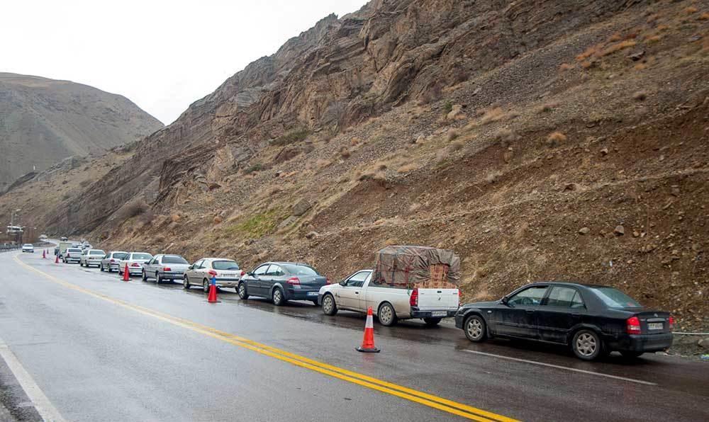 تصاویر | ترافیک سنگین در جاده کرج - چالوس