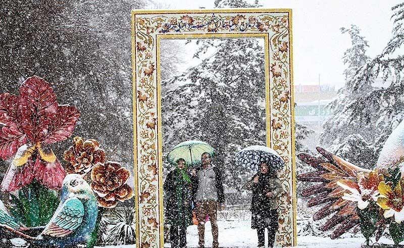 تصاویر | نخستین برف بهاری در همدان