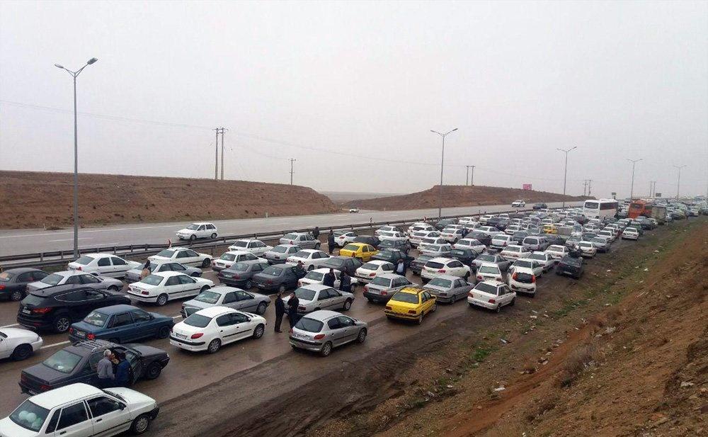 ترافیک نیمه سنگین در جاده چالوس، هراز و قزوین
