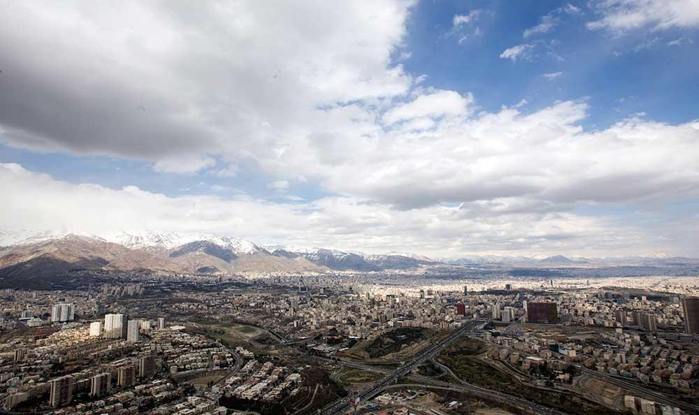 ششمین روز هوای پاک تهران در سال ۹۶/ افزایش نسبی دمای پایتخت