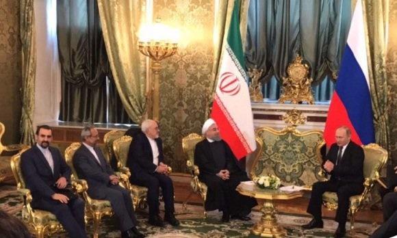 استقبال رسمی پوتین از روحانی در کاخ کرملین /تهران و مسکو 14 سند همکاری امضا کردند