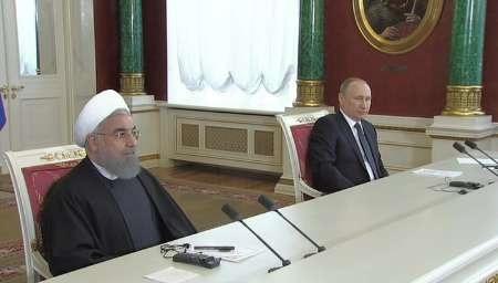 تاکید روسایجمهور ایران و روسیه بر اجرای برجام /همکاری برای ساخت هواپیما و صادرات سوخو به ایران