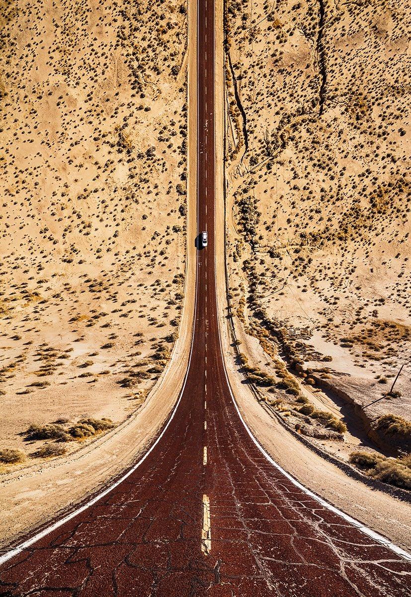 تصاویر | چشماندازهای علمی تخیلی از جادههای آمریکا
