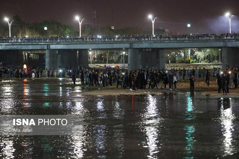 تصاویر | جاری شدن آب در زایندهرود