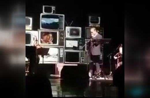 فیلم | بغض نگذاشت علیرضا قربانی «مدار صفر درجه» را در کنسرتش بخواند
