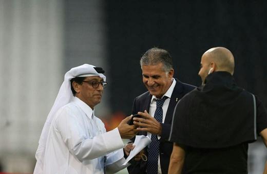 تصویر خندان سرمربی پرتغالی در حال پاسخ قاطع به خبرنگار قطری