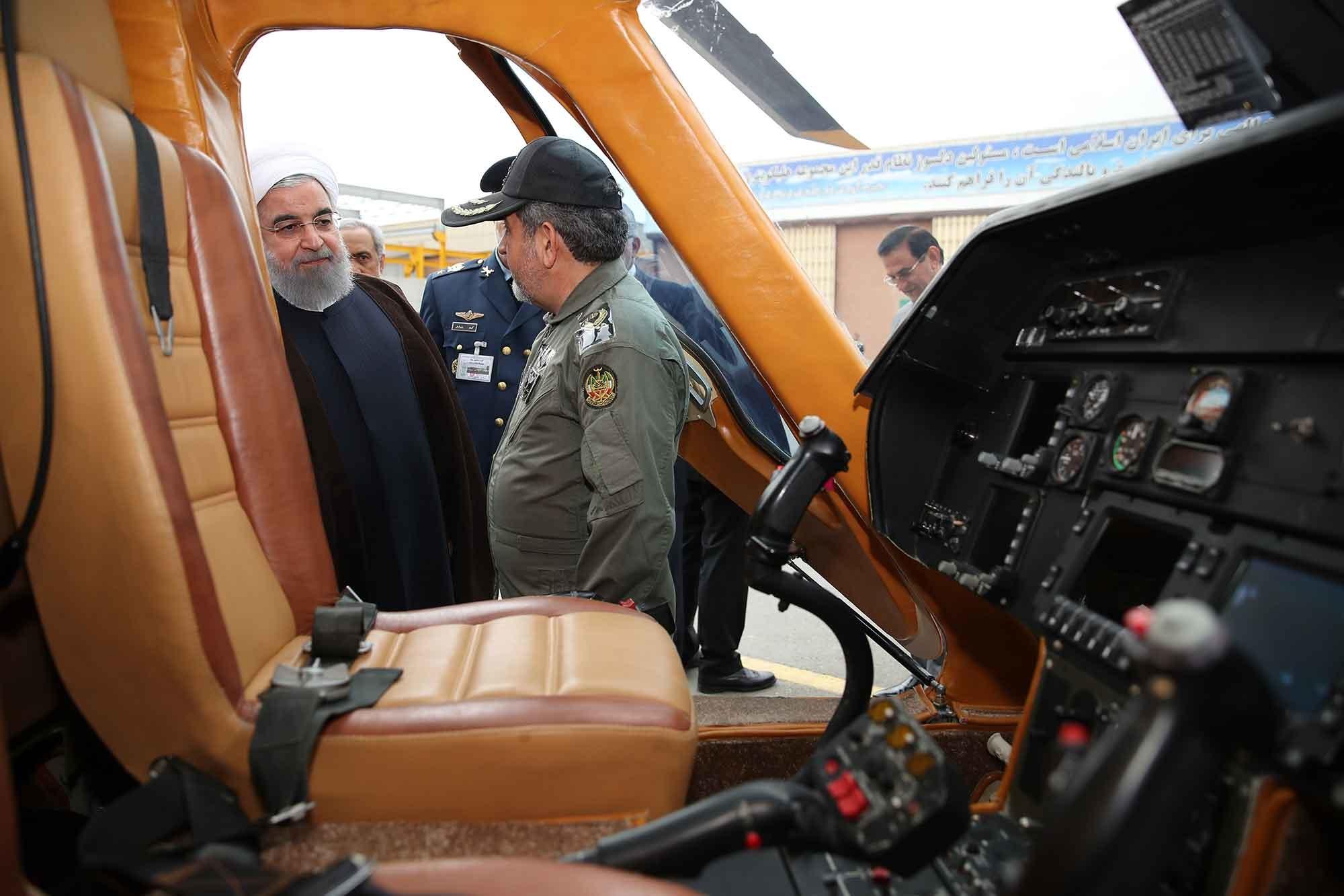تصاویر |  رییسجمهور در مراسم رونمایی از دستاوردهای جدید وزارت دفاع