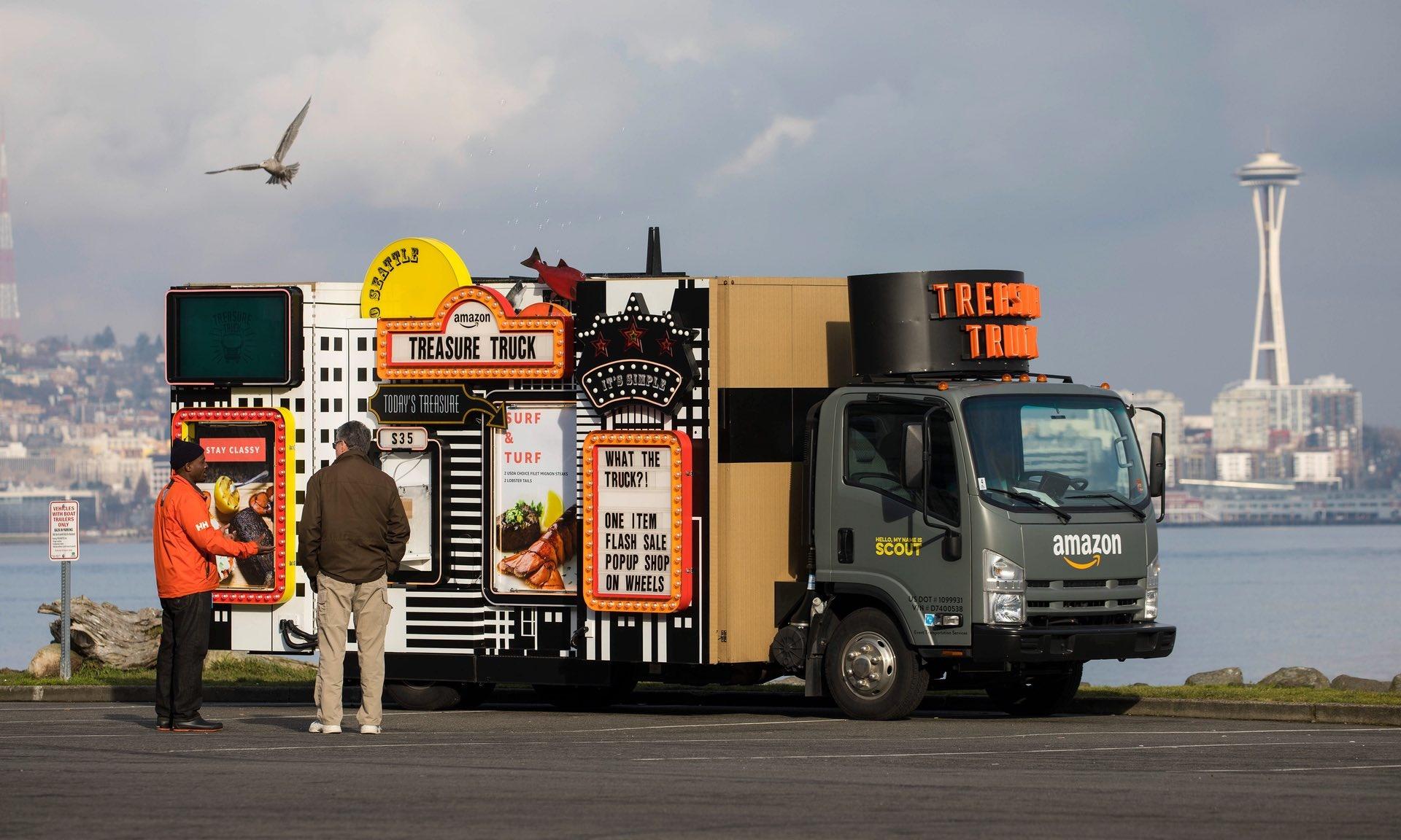 کامیون گنج آمازون/ عکس