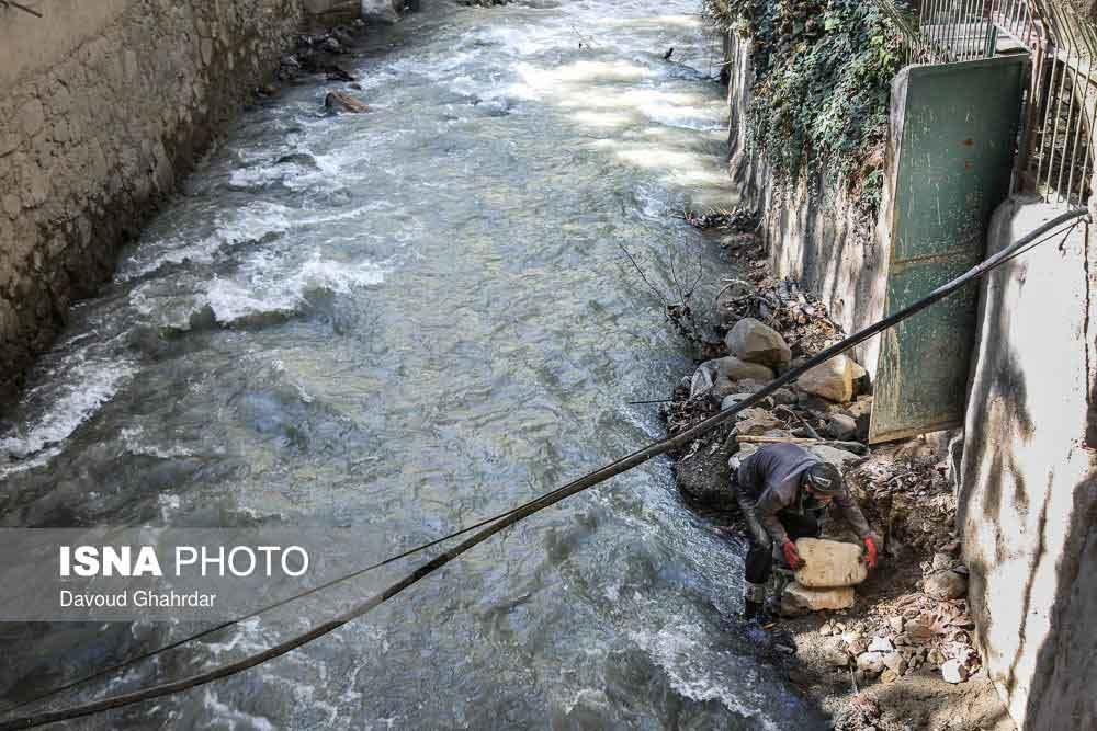 تصاویر | پرآبترین رود تهران را ببینید