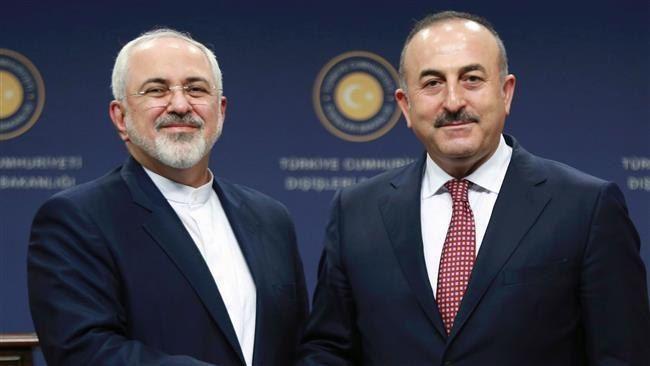 ظریف به وزیر خارجه ترکیه تبریک گفت