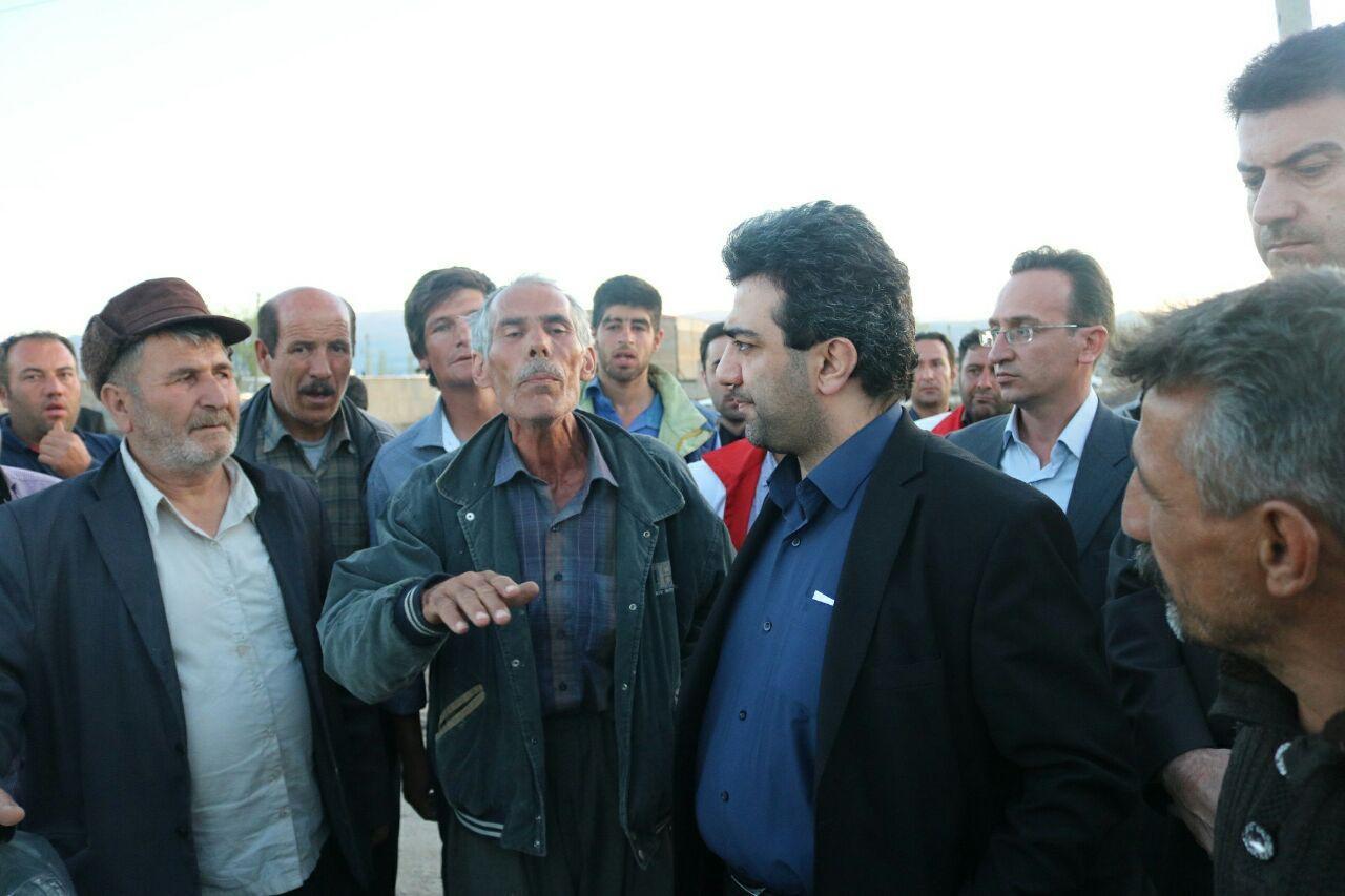 حضور اعضای کمیسیون عمران مجلس در مناطق سیلزده آذربایجانغربی