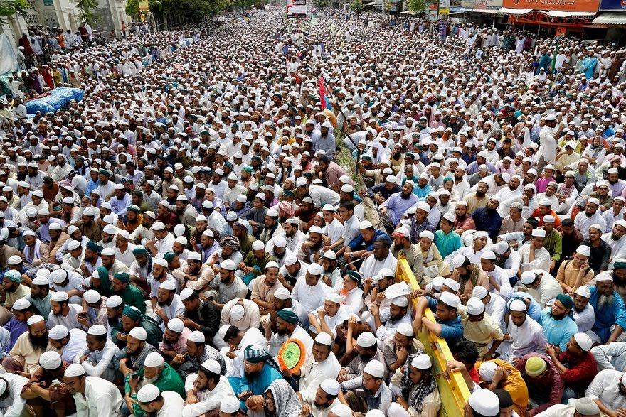 تصاویر | تظاهرات مسلمانان بنگلادش علیه نصب مجسمه الهه یونانی