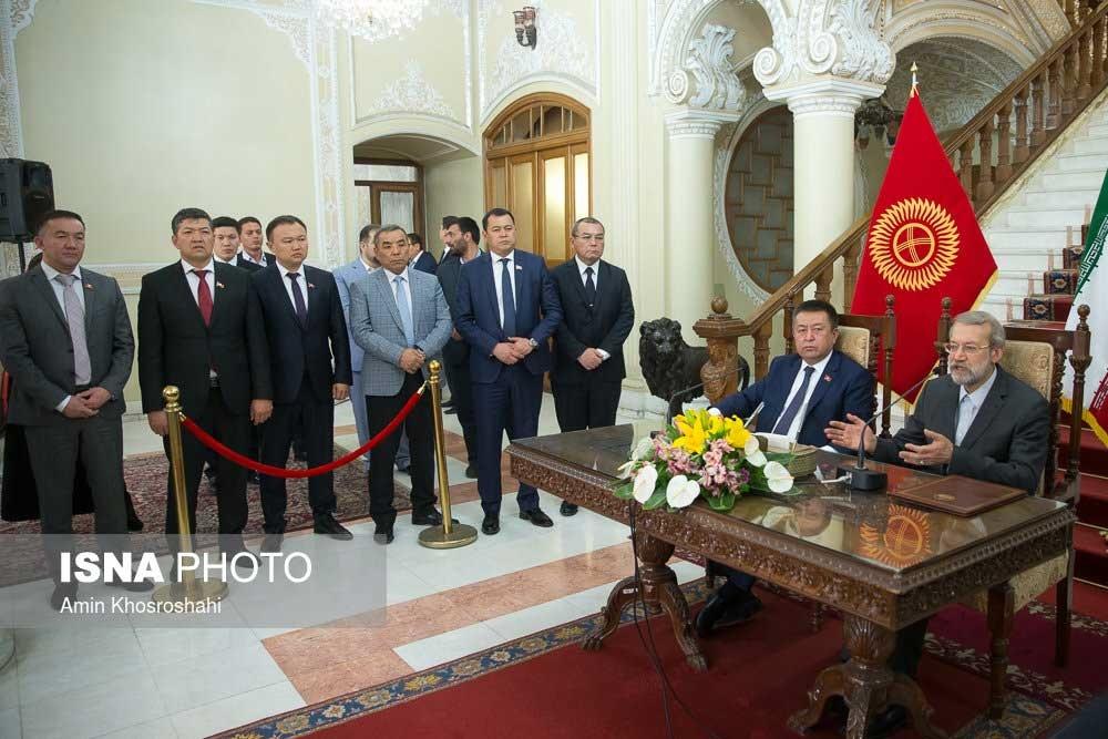 تصاویر | دیدار رئیسمجلس قرقیزستان با علی لاریجانی