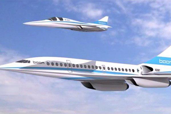 فیلم | هواپیمای مسافربری مافوق صوت در دبی