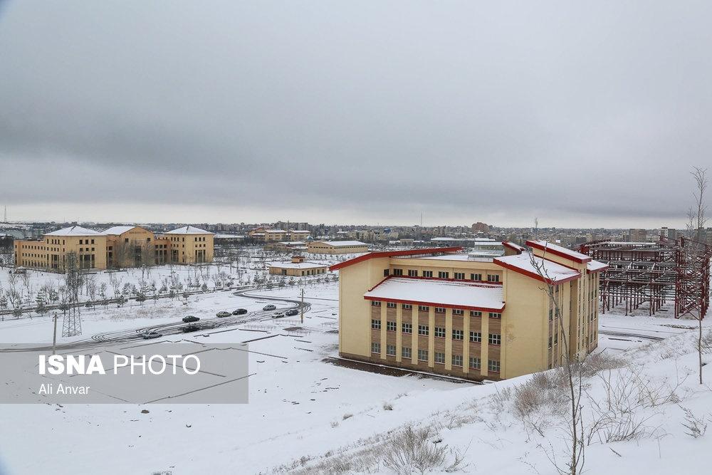 تصاویر   بارش برف بهاری در اردبیل
