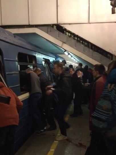 نخستین تصاویر از انفجار ایستگاه متروی سن پترزبورگ