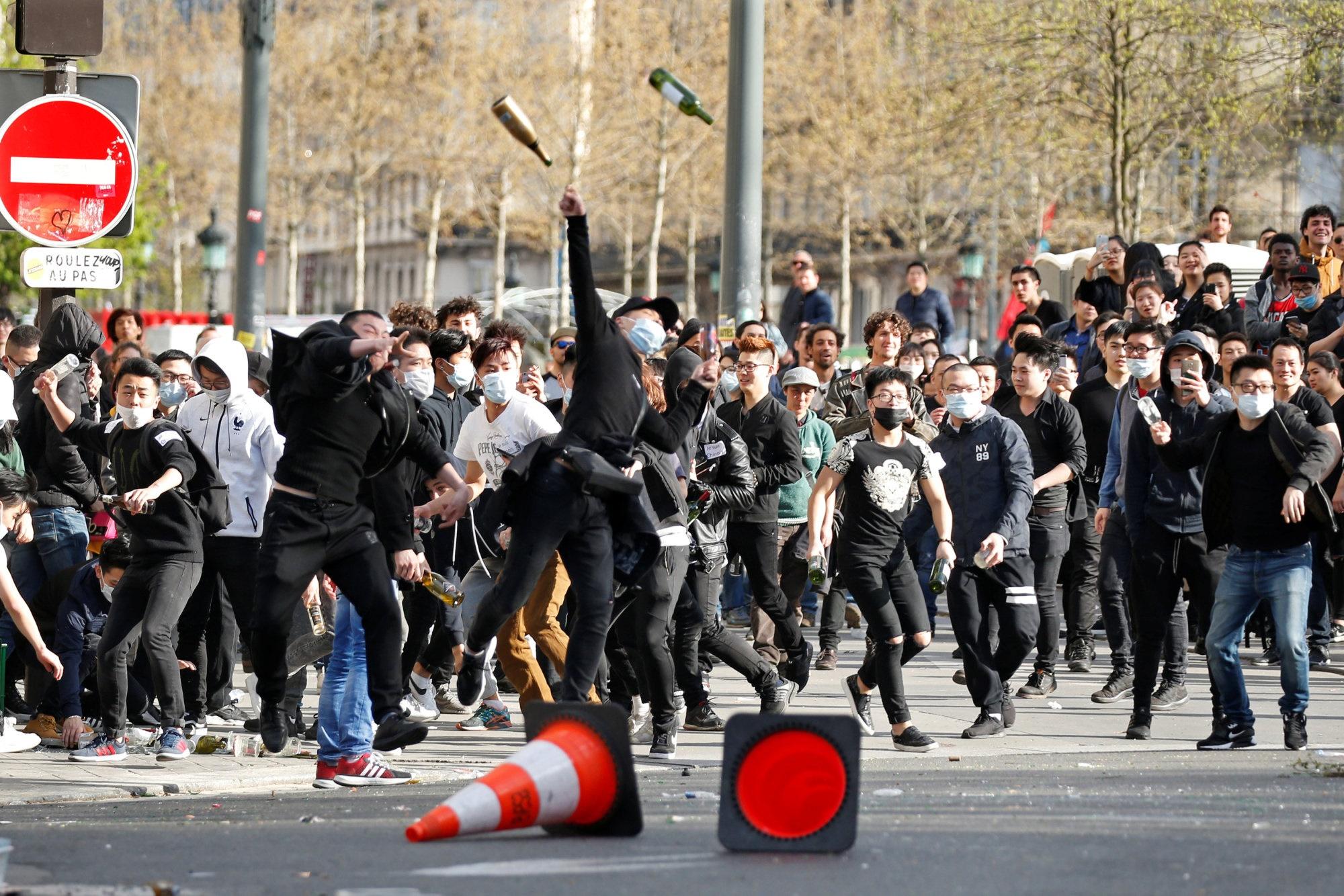 تصاویر | تظاهرات چینیها در پاریس همچنان با خشونت ادامه دارد