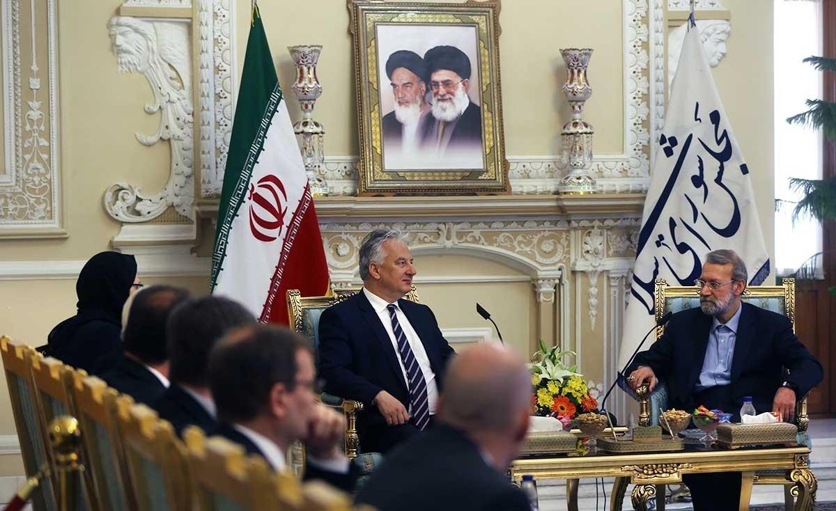 تصاویر | دیدار ژولت شمین با رئیس مجلس شورای اسلامی