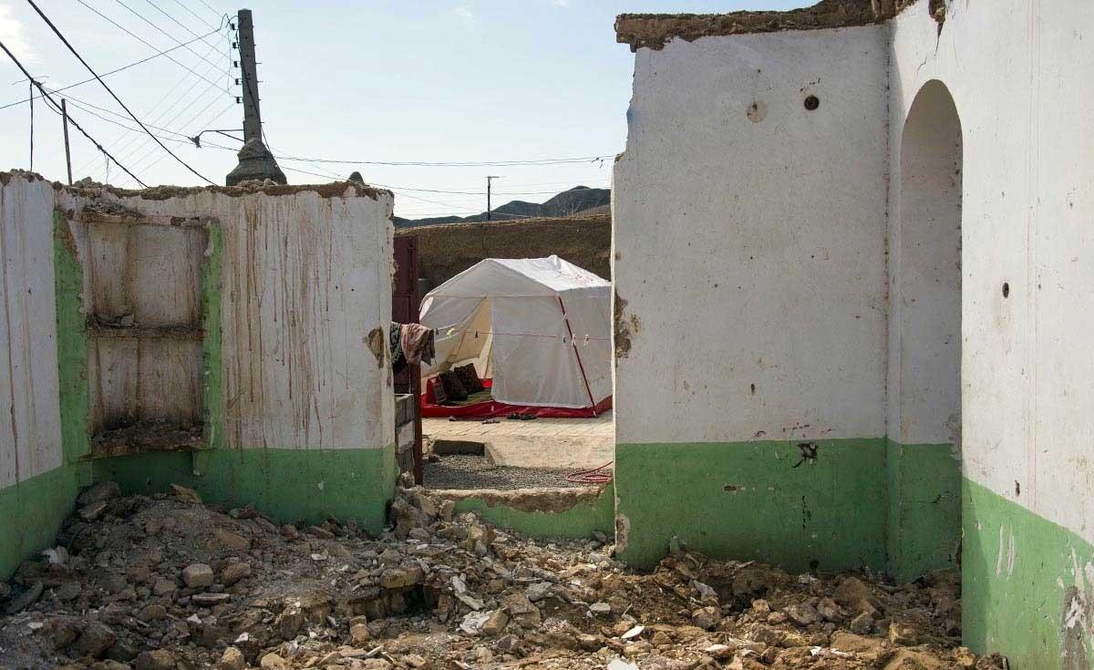 روستای آلمجوق تربت جام پس از زلزلۀ شدید هفتۀ پیش خراسان رضوی