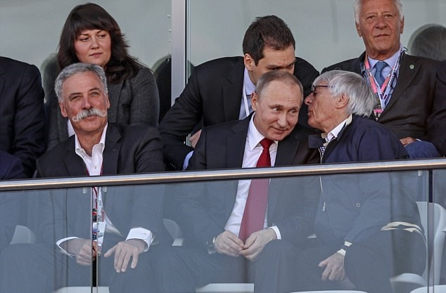 تصاویر | حضور پوتین در مسابقات فرمول یک