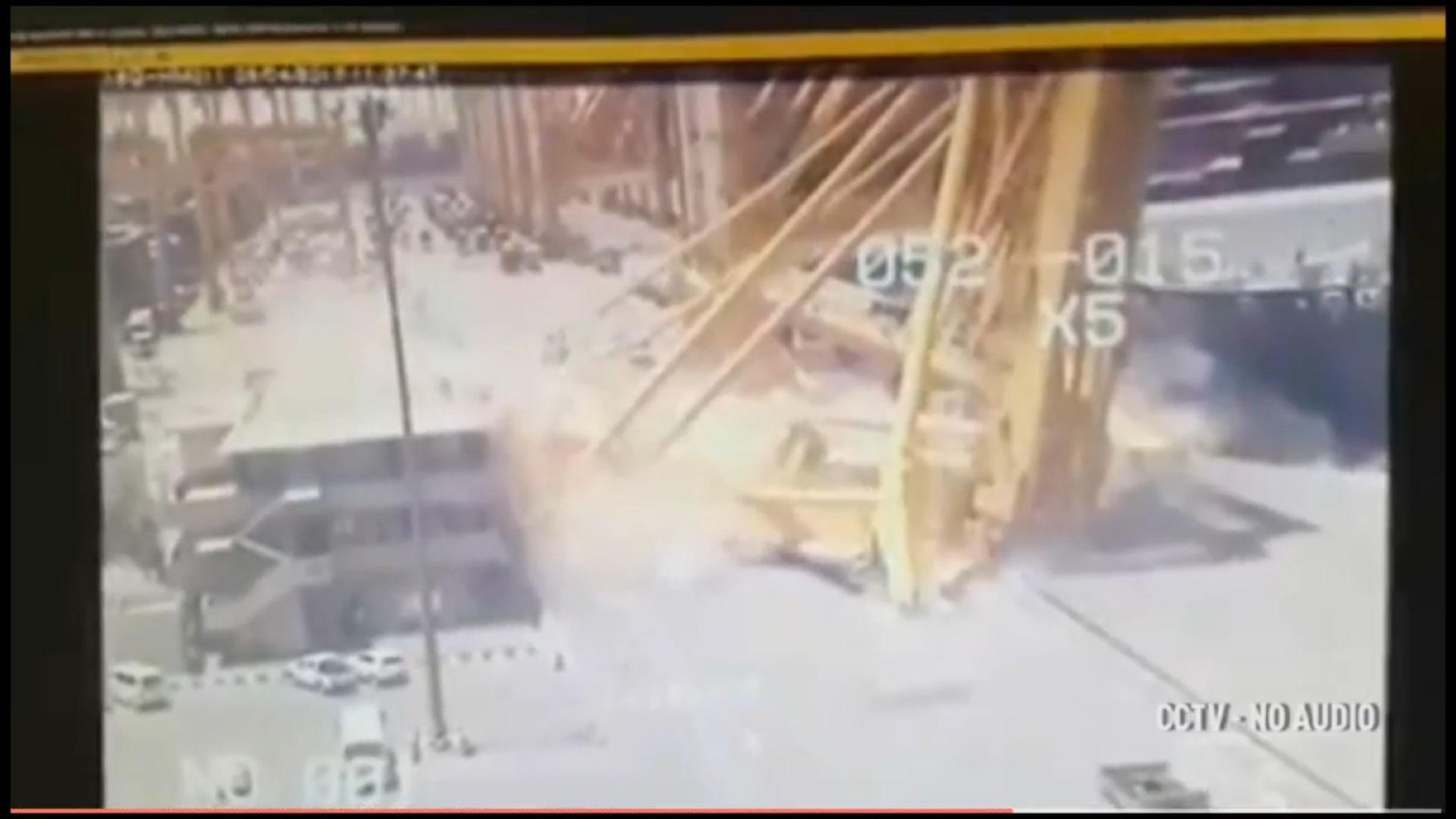 فیلم | برخورد کشتی با جرثقیل غولپیکر در بندر «جبل علی» دوبی