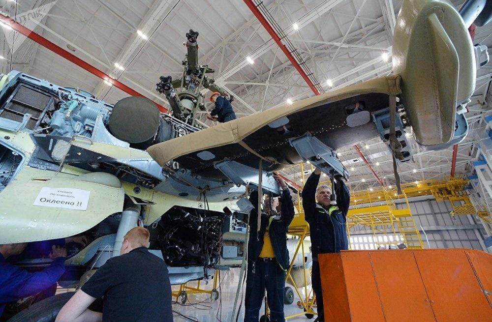 تصاویر | خط تولید هلیکوپتر تمساح روسی