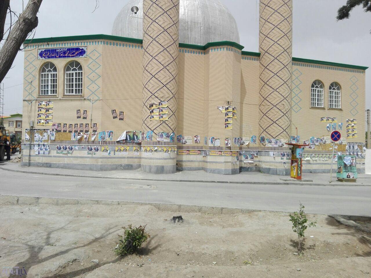 وقتی کاندیداها، به مسجد هم رحم نمی کنند!