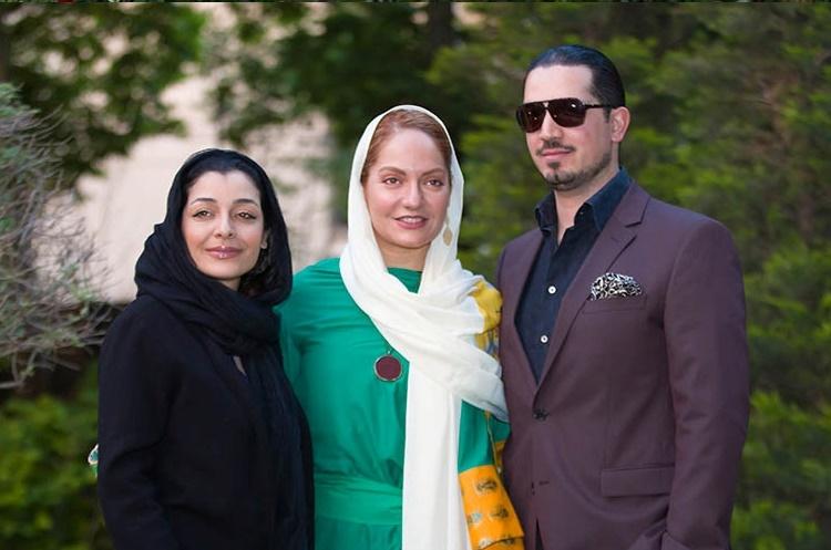 کیک تولد آیدا مهران مدیری، مهناز افشار و همسرش در جشن تولد رضا عطاران /عکس