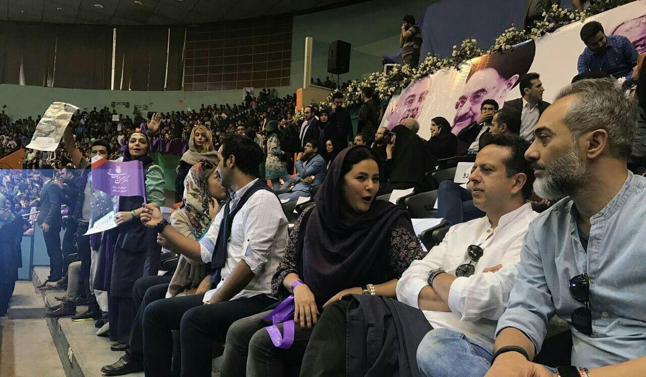 17 5 13 181922photo 2017 05 13 16 04 43 - چهرههای سرشناس که در حمایت از روحانی به ورزشگاه آزادی رفتند