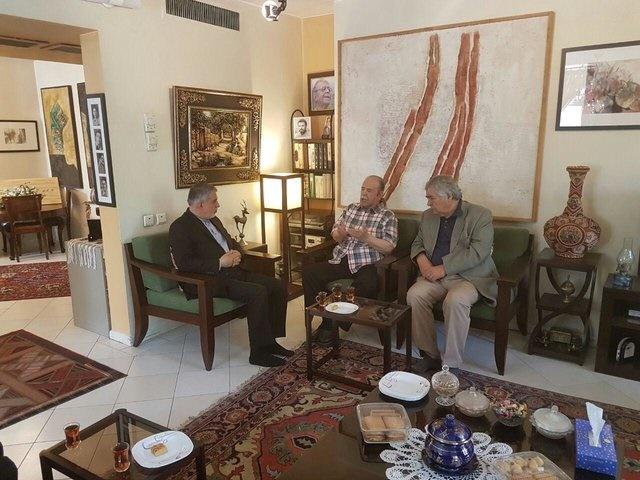 دیدار وزیر ارشاد با محمدعلی کشاورز